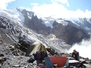 Camp at 3400m