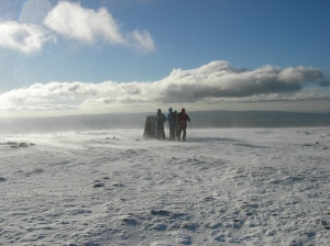 Approaching Ingleborough summit