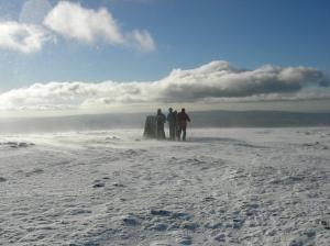 Approaching Ingleborough summit