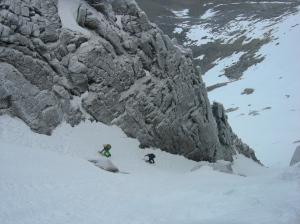 Climbers in The Couloir, Coire an Lochan