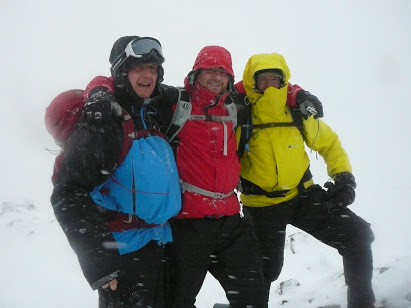 Rasmus, Heath and Byron on the summit