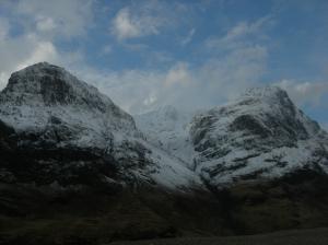 Stob Coire nan Lochan (center) on a clear day