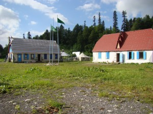 Tour base Fisht office buildings, shop and bunkhouse.