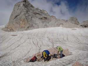 Vitaly and Mike at crampon point