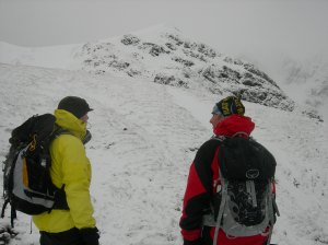 Heath and Byron on the way back down
