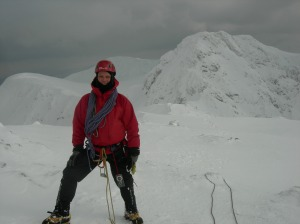 Half way along the Aonach Eagach