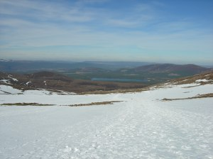 Loch Morlich and the view into Scotland