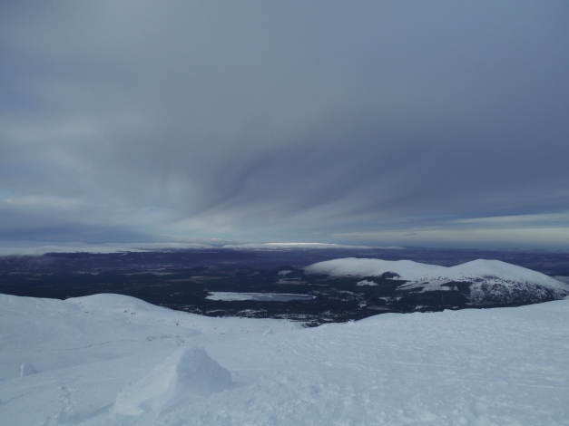 A cracking view down to a frozen Loch Morlich