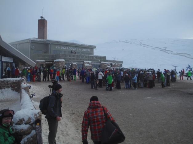 Aviemore ski center ques